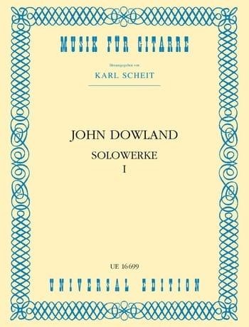 Solowerke Band I - DOWLAND - Partition - Guitare - laflutedepan.com