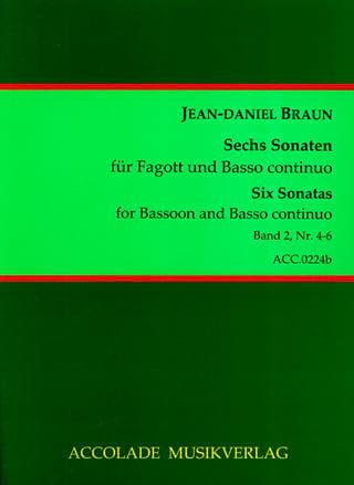 6 Sonaten Volume 2 - Jean-Daniel Braun - Partition - laflutedepan.com