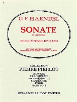 Sonate en Sol Mineur HAENDEL Partition Hautbois - laflutedepan