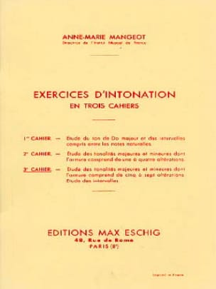 Anne-Marie Mangeot - Ejercicios de entonación - Libro 3 - Partition - di-arezzo.es