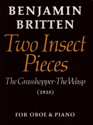 2 Insect pieces BRITTEN Partition Hautbois - laflutedepan