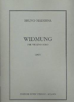Widmung Bruno Maderna Partition Violon - laflutedepan