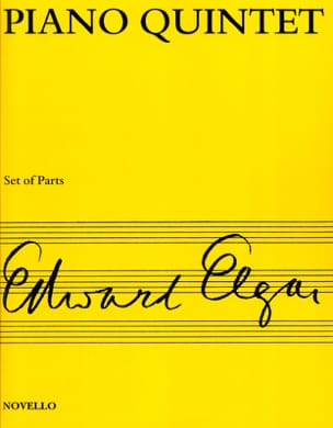 Piano quintet op. 84 - Score + Parts ELGAR Partition laflutedepan