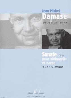 Sonate - Cello et harpe Jean-Michel Damase Partition 0 - laflutedepan