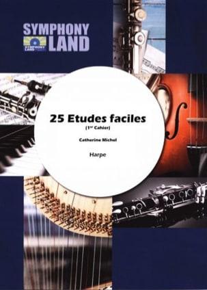 25 études faciles Catherine Michel Partition Harpe - laflutedepan