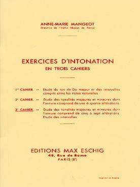 Exercices d'intonation - Cahier 3 - laflutedepan.com
