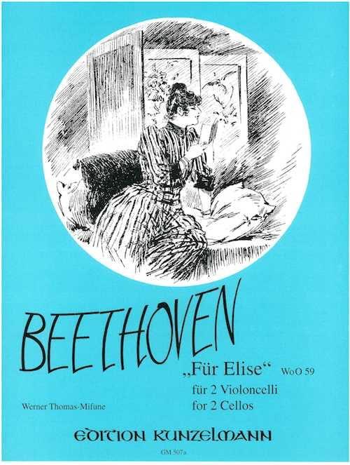 Für Elise WoO 59 - 2 Violoncelles - BEETHOVEN - laflutedepan.com