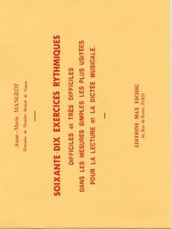 70 Exercices rythmiques Anne-Marie Mangeot Partition laflutedepan