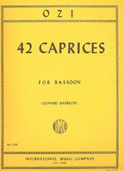 42 Caprices - Bassoon Etienne Ozi Partition Basson - laflutedepan