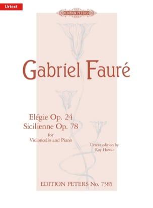 Elegie Op. 24 / Sicilienne Op. 78 FAURÉ Partition laflutedepan