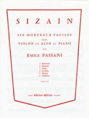 Sizain n° 5 : Rêverie - Emile Passani - Partition - laflutedepan.com