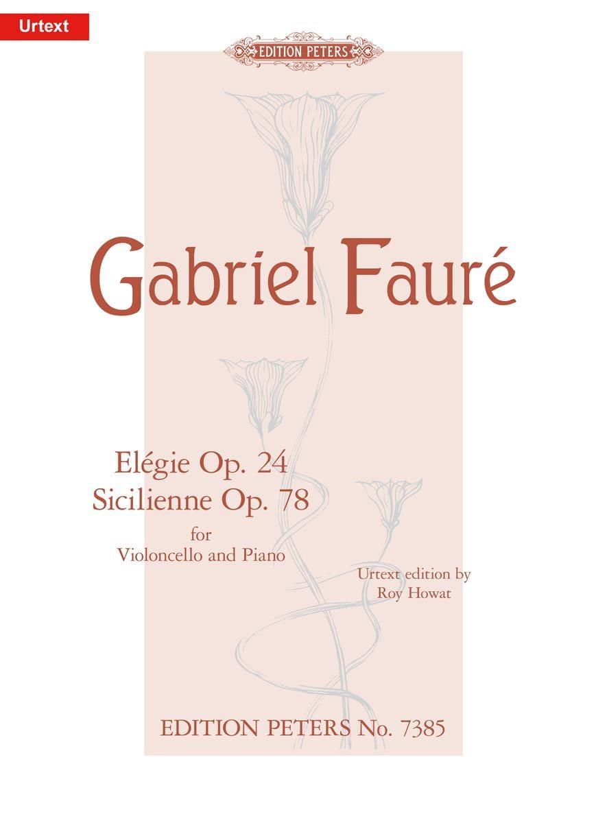 Elegie Op. 24 / Sicilienne Op. 78 - FAURÉ - laflutedepan.com