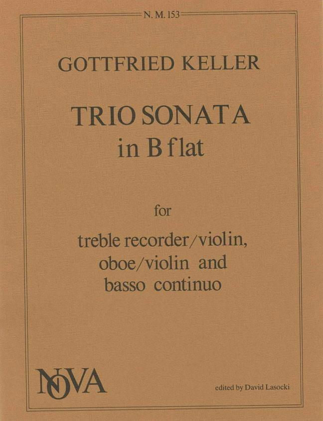 Trio Sonata in B Flat -Treble recorder oboe BC - laflutedepan.com