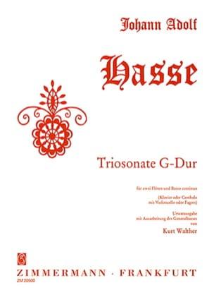 Triosonate G-Dur -2 Flöten Bc Johann Adolf Hasse laflutedepan