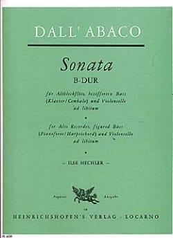 Sonata B-Dur - Altblockflöte u. Bc DALL'ABACO Partition laflutedepan
