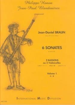 6 Sonates Volume 1 Jean-Daniel Braun Partition Basson - laflutedepan