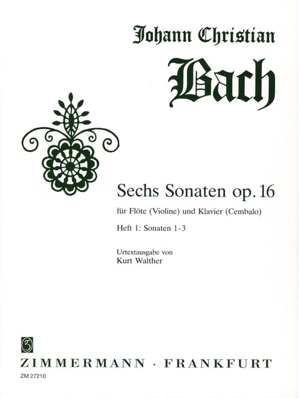 6 Sonates, op. 16 Heft 1 -Flöte Violine Klavier - laflutedepan.com