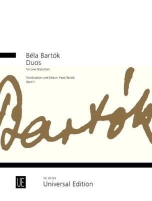 Duos für 2 Bratschen, Bd. 1 BARTOK Partition Alto - laflutedepan