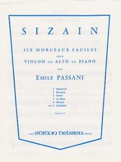 Sizain n° 6 : Sicilienne Emile Passani Partition laflutedepan
