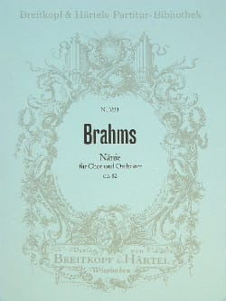 Nänie op. 82 BRAHMS Partition Grand format - laflutedepan