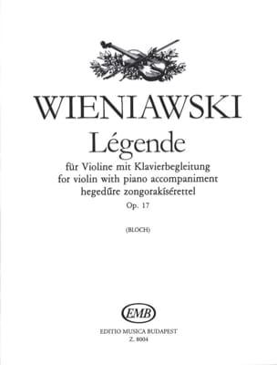 Légende Op. 17 WIENAWSKI Partition Violon - laflutedepan