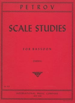 Scale studies - Bassoon I. A. Petrov Partition Basson - laflutedepan