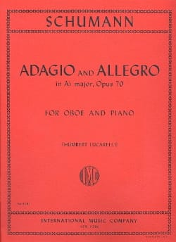 Adagio and Allegro op. 70 -Oboe piano SCHUMANN Partition laflutedepan
