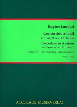 Concertino A-moll op. 118 Eugène Jancourt Partition laflutedepan