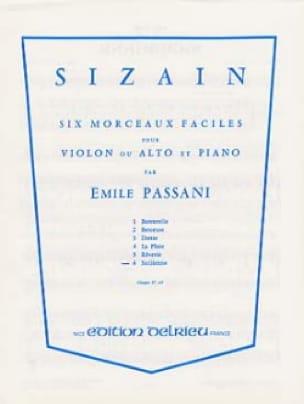 Sizain n° 6 : Sicilienne - Emile Passani - laflutedepan.com