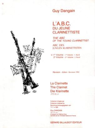 L'A.B.C. du jeune Clarinettiste - Volume 1 Guy Dangain laflutedepan