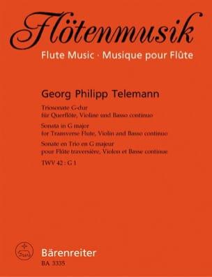 Triosonate G-Dur - Flöte, Violine u. Bc TELEMANN laflutedepan