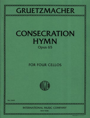 Consecration Hymn Op.65 Gruetzmacher Partition laflutedepan
