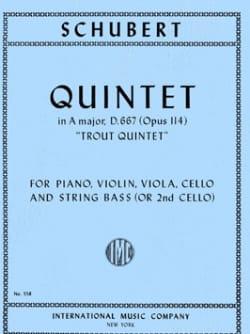 Trout Quintet in A major op. 114 -Parts SCHUBERT laflutedepan