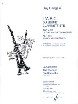L'A.B.C. du jeune Clarinettiste - Volume 2 Guy Dangain laflutedepan