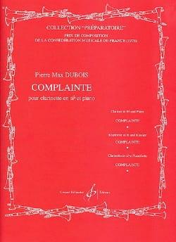 Complainte Pierre-Max Dubois Partition Clarinette - laflutedepan