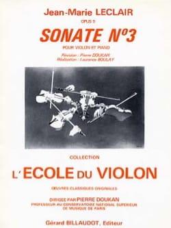 Sonate op. 9 n° 3 ré majeur LECLAIR Partition Violon - laflutedepan