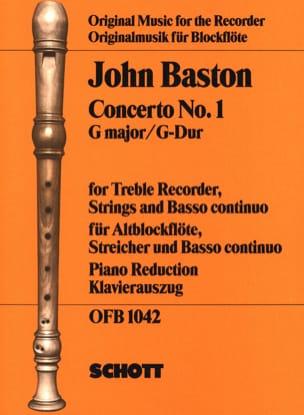Concerto Nr. 1 G-Dur für Altblockflöte John Baston laflutedepan