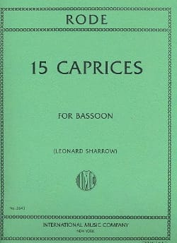 15 Caprices - Basson Pierre Rode Partition Basson - laflutedepan