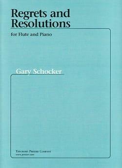 Regrets and Resolutions - Flûte Gary Schocker Partition laflutedepan