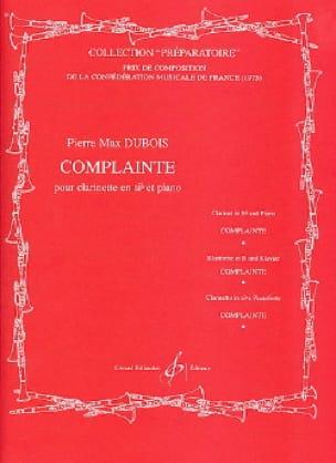 Complainte - Pierre-Max Dubois - Partition - laflutedepan.com