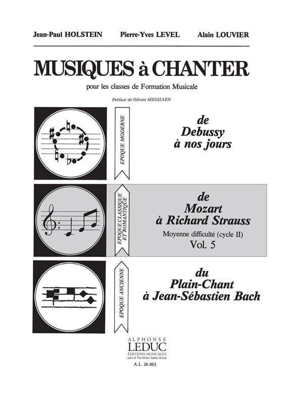 Musiques à chanter - Volume 5 - laflutedepan.com