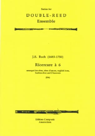 Ricercare à 6 - Sextuor à Vents - BACH - Partition - laflutedepan.com