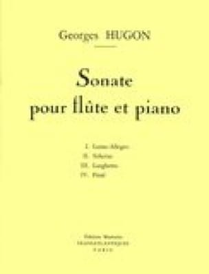 Sonate - Flûte et piano - Georges Hugon - Partition - laflutedepan.com