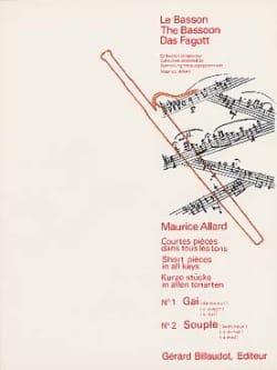 Courtes Pièces dans tous les tons N° 1-2 Maurice Allard laflutedepan