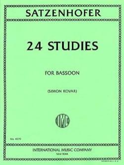 24 études Satzenhofer Partition Basson - laflutedepan