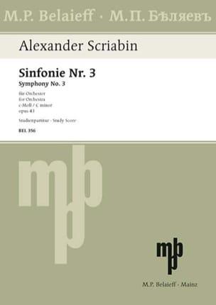Symphonie Nr. 3 c-moll op. 43 - Partitur SCRIABINE laflutedepan