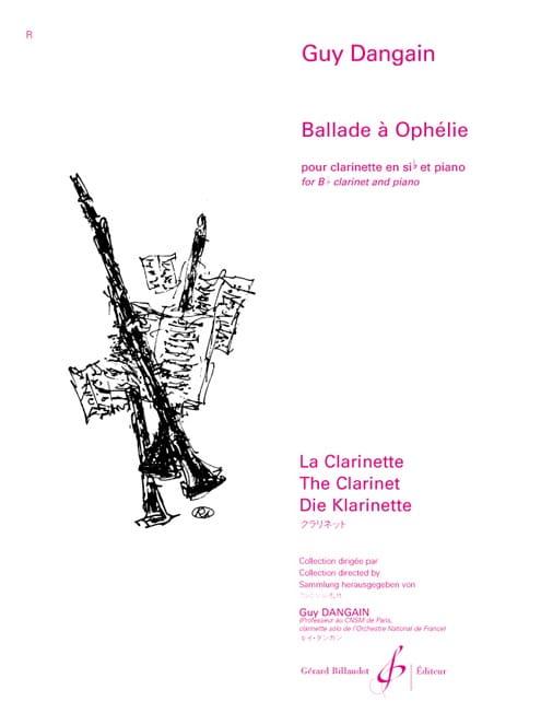 Ballade à Ophélie - Guy Dangain - Partition - laflutedepan.com