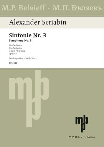Symphonie Nr. 3 c-moll op. 43 - Partitur - laflutedepan.com