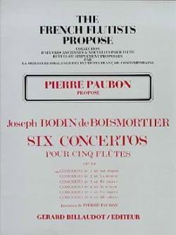 Concerto op. 15 n° 1 en sol majeur BOISMORTIER Partition laflutedepan
