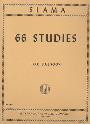 66 Studies - Bassoon Anton Slama Partition Basson - laflutedepan